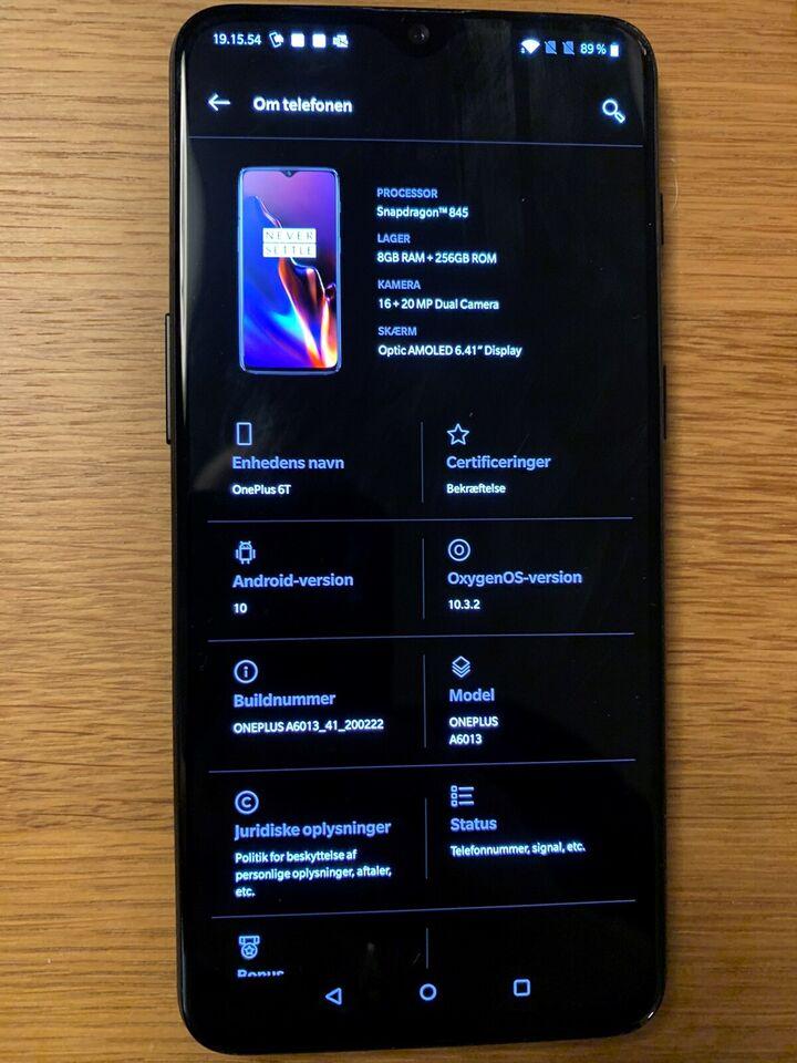 OnePlus Oneplus 6t, 256 gb. 8 gb ram. , God