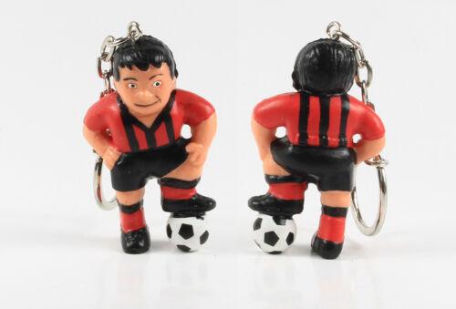 Fußball Werbefigur === rot schwarzes Trikot Maskottchen Figur Schlüsselanhänger