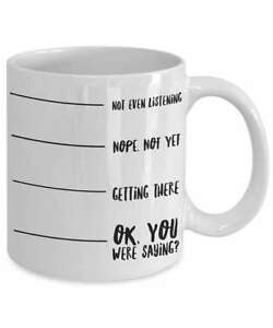 Not Listening Poop Coffee Levels With Mug Even Shh K3JclFT1