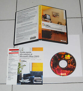 Bien Informé Microsoft Office Edizione Studenti E Docenti 2003 Ottimo Italiano Box Pc