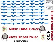 Siletz Tribal Police Crusier 1/32nd Scale Slot Car Waterslide Decals