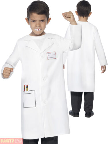 Childs Dentist Costume Boys Girls Instant Kit Fancy Dress Book Week Day Outfit