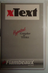 xText-Hypertext-Compiler-amp-Toolkit-1989-Flambeaux-Software-for-iBM-PC-XT-AT