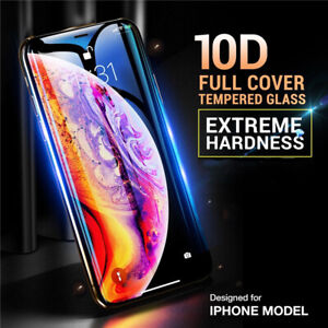 10D-Full-Cover-Tempered-Glass-For-iPhone-XS-MAX-XR-8-7-6Plus-Screen-Protector-aa
