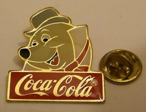 Disney-1986-Coca-Cola-MOLE-The-Adventures-of-Ichabod-and-Mr-Toad-pin-badge
