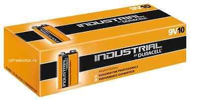 50x Batterie 9V Block Duracell Industrial MN1604-6LR61-9V Box - 5Packs x 10Stück