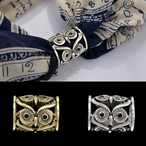 Women Buckle Pins Retro Owl Brooch Pin Scarf Clips Pins Scarf Buckle Pin JP