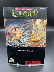 Super Adventure Island Super Nintendo SNES Instruction Manual Booklet ONLY