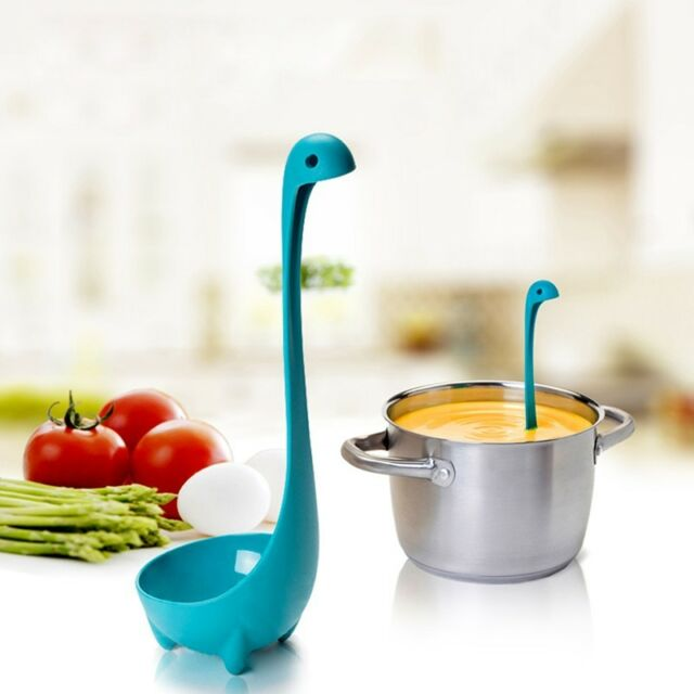Home Kitchen Funky Design Bar Set Gifts Colander Spoon & Ladle Loch Ness Monster