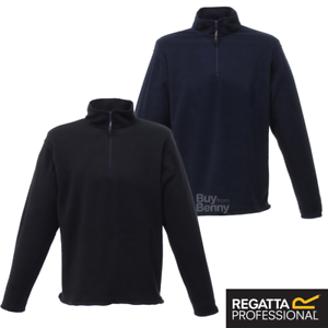 REGATTA MICRO FLEECE JACKET PULLOVER ZIP NECK WARM SOFT WORKWEAR ...
