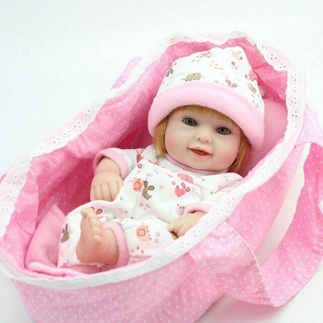 "11/"" Reborn Baby Twins Girl Boy Dolls Newborn Vinyl Silicone Handmade Toy Gift"