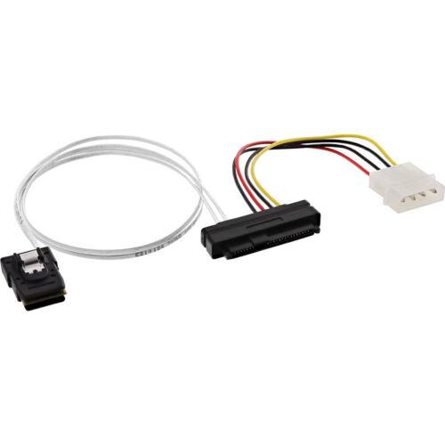 SAS Cable Mini SAS SFF-8087 to 1x SAS SFF-8482 PW 0.5m