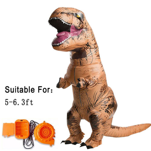 Adult T-Rex T-REX Jurassic Inflatable Dinosaur Costume Blowup Suit Funny Dress