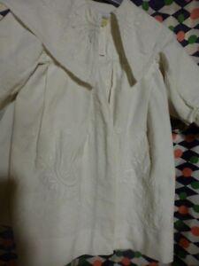 Ou Beau Xix°ancien Manteau Poupée Grande Blanc Broderies bébé dOrpOqwBxI