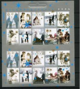 Nederland-vel-Decemberzegels-2004-2296-2305-cat-waarde-12