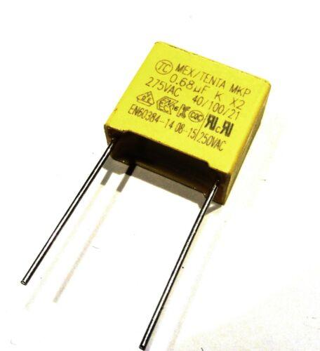 Condensateur MKT 680nF 684 0.68uF 275Vac Classe X2 15mm             CK250X680N//1
