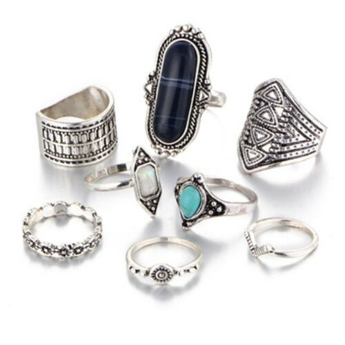 Details about  /Jewelry Set of Knuckle Heart Love Tophus Thumb Fashion Boho Diamond 8 Ring