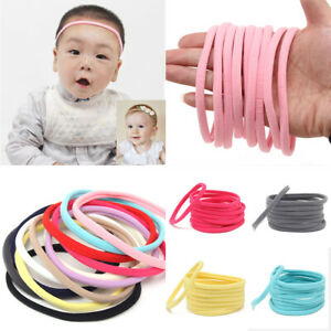 10PC-Baby-Soft-Skinny-Nylon-Headband-Elastic-Hair-Bands-DIY-Hair-Accessories-Lot