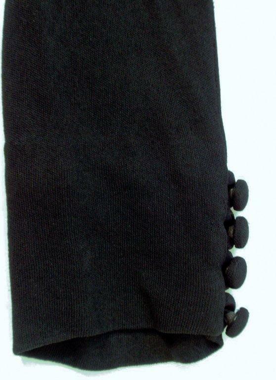 CEIL CHAPMAN Vintage Black Long Sleeve Jersey Coc… - image 8