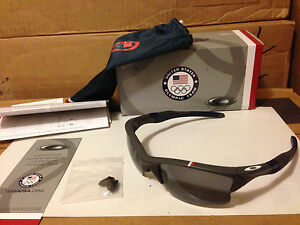 Half Jacket 2 0 >> Details About New Oakley Team Usa Half Jacket 2 0 Xl Dark Grey Grey Polarized Oo9154 14