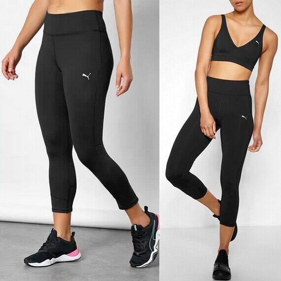 Puma 3/4 Tight Damen Sport Legging Laufhose Fitness Training Hose schwarz [XS-L]