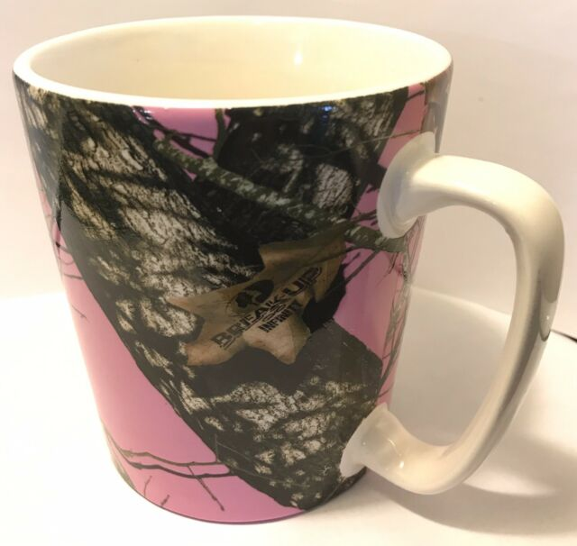 Pink Mossy Oak Camo Coffee Mug Cup Camouflage Break Up Infinity 16oz 470ml