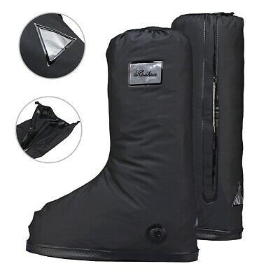 X-Black Waterproof Snow Rain Boot Shoe Cover Protector Reusable Cycling Shoe Protective Gear with reflecto