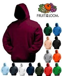 Fruit-of-the-Loom-Hooded-Sweatshirt-S-M-L-XL-XXL-in-18-Farben-Kapuzen-Hoodie