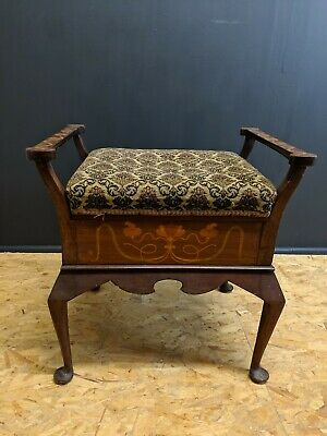 Able Edwardian 1905 James Shoolbred & Co Mahogany Piano Stool 00012 Fashionable And Attractive Packages Benches/stools