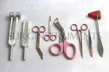 8 Piece Pink Medical Kit Emt Nursing Surgical Ems Student Paramedic Holiday Gift