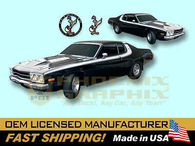SIDE /& ROOF SOLID STRIPE COMBO 1974 PLYMOUTH ROAD RUNNER QG-589