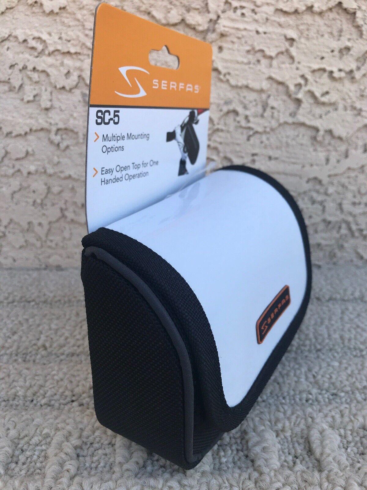 Stem Clamp Bag System Serfas SC-6 BLACK Medium Soft Storage Case Bike Cycling