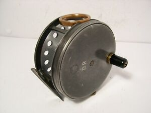 Vintage-Antique-Dingley-3-3-4-034-Alloy-Perfect-Pattern-Salmon-Fly-Fishing-Reel