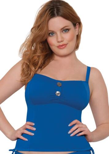 Curvy Kate CS1906 Luau Love Tankini Top Swimwear in Deep Sea Blue