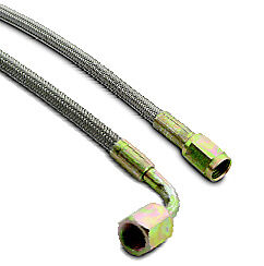 "A-1 Racing Products 3AN Straight//Straight Steel Braided Brake Line 18/"" Inches"