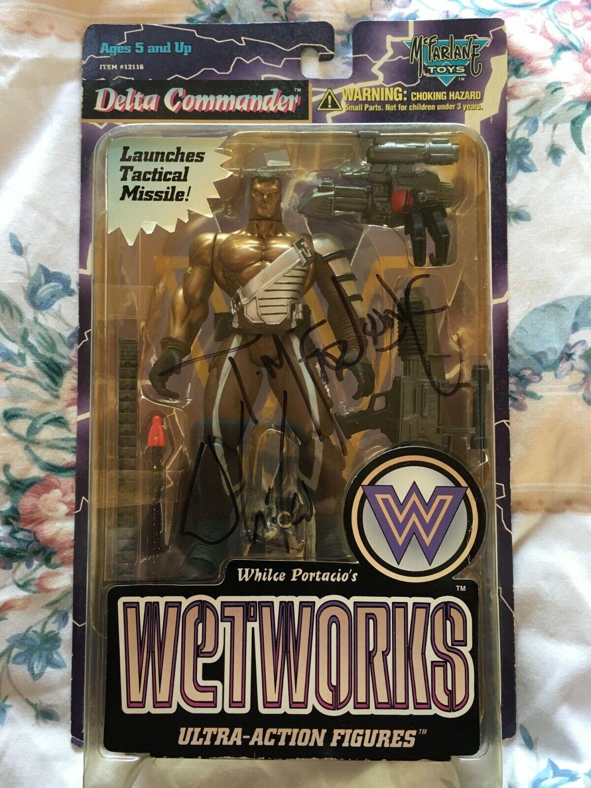 McFarlane Toys Wetworks Delta Commander figure MOC Todd Mcfarlane Autograph