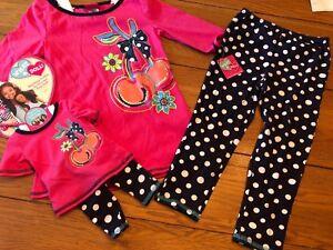 ea9824619df7 NWT American DOLL GIRL Matching Outfit Set LOT Shirt Leggings 6/6X ...