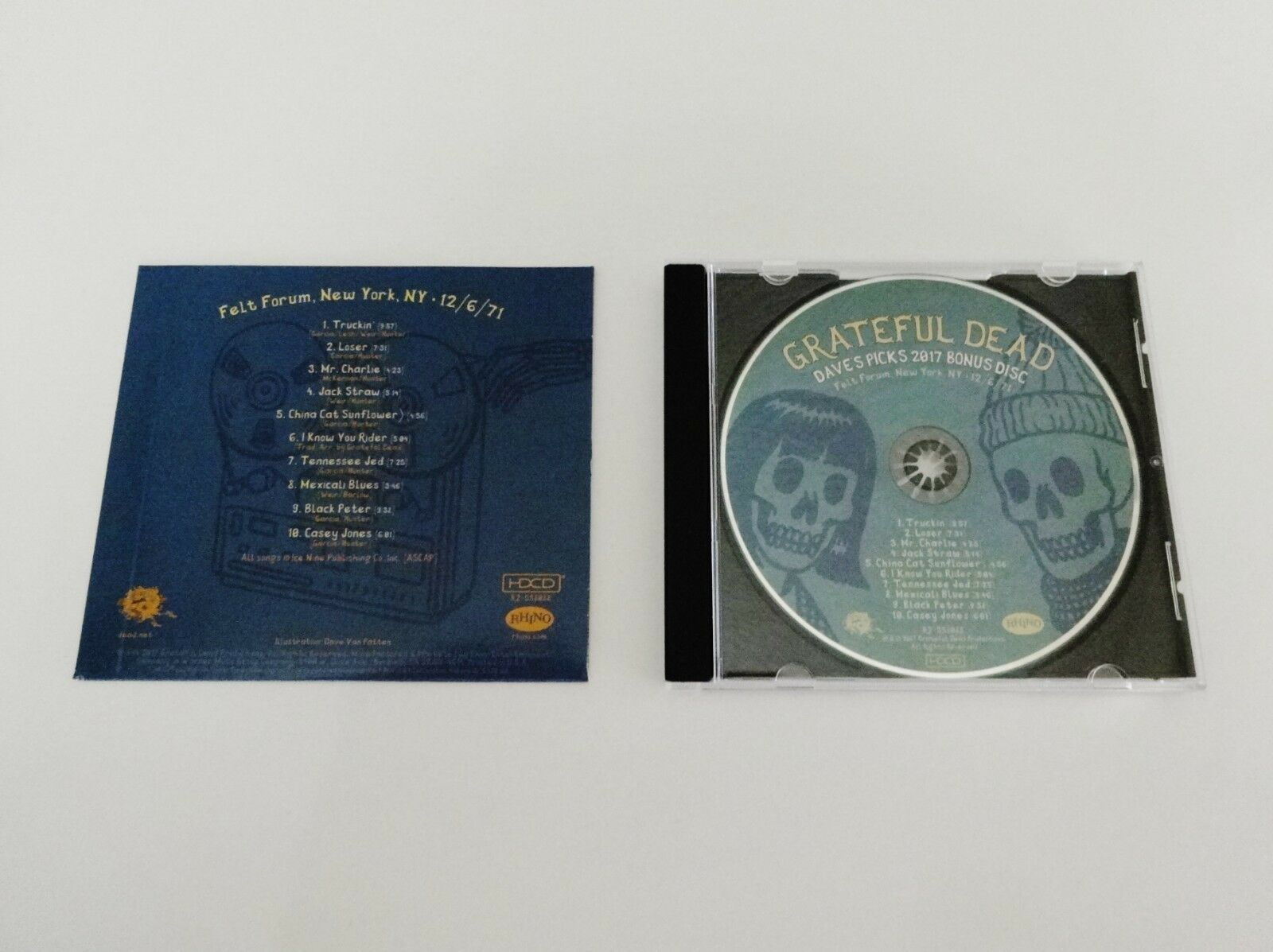 Grateful Dead Dave's Picks 2017 Bonus Disc CD Felt Forum NY 12/6/1971 Vol  22 1cd