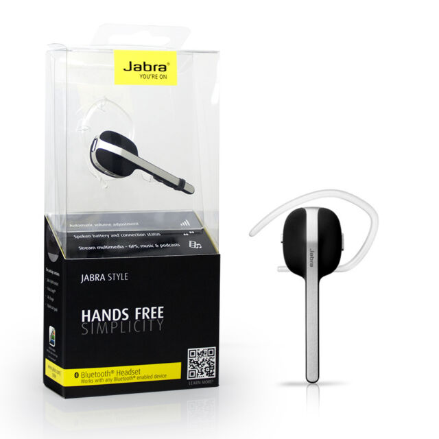 Bluetooth Jabra Bluetooth Headset Black Style Compatible to: Apple iPhone, iPod