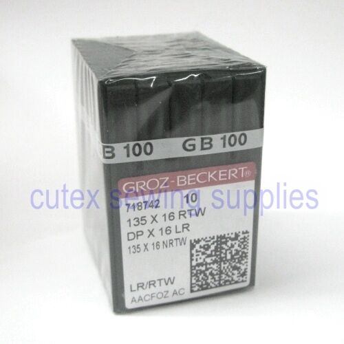 100 Groz-Beckert 135X16RTW 135X16LR DPX16LR Leather Sewing Needles