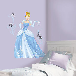 Details about SPARKLING CINDERELLA GiaNT WALL DECALS Disney Princess  Stickers Girls Room Decor