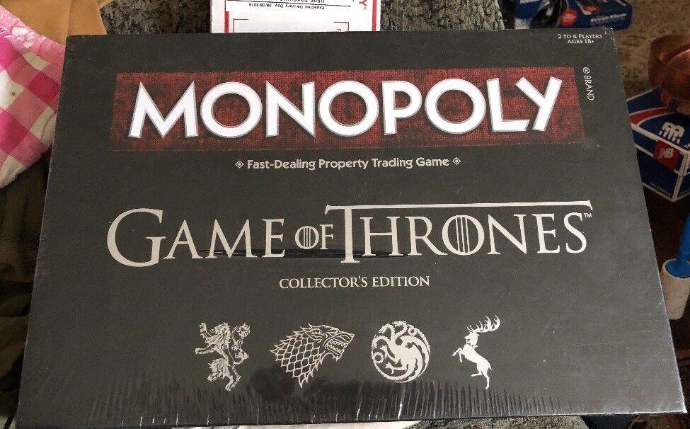 ordene ahora los precios más bajos Monopolio  juego juego juego de tronos edición coleccionista placa tiene hierro trono Chop  barato y de moda