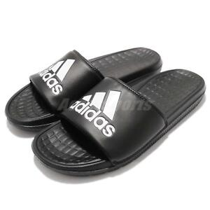 low priced 65562 9d2ca Image is loading adidas-Voloomix-Logo-Black-White-Men-Sports-Sandal-