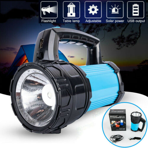 Solar Charge Lamp LED Camping Tent Light Outdoor Lantern Torch Searchlight Power