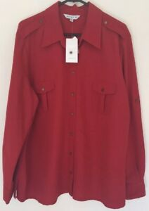 Ladies MARK AND SPENCER Long Sleeve Shirt Blouse See Through Collard Party Cloth