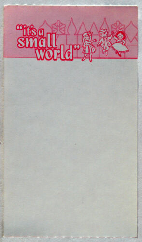 Disneyland Unprinted Fastpass for It's a Small World Hard to Find Mint Condition