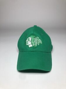 Chicago-Blackhawks-NHL-Hockey-Hat-Cap-St-Patty-039-s-Day-Green-Snapback-NWOT