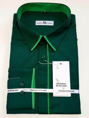 robe et Décontracté £ 16.99 468 Homme Contrast Piping Manches Longues Chemise formel