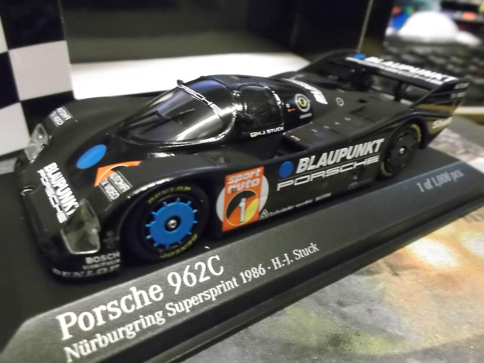 Porsche 962 C (956 (956 (956 II) C Norisring wsc 1986 stuc bleupunkt Minichamps 1 43 f54a72