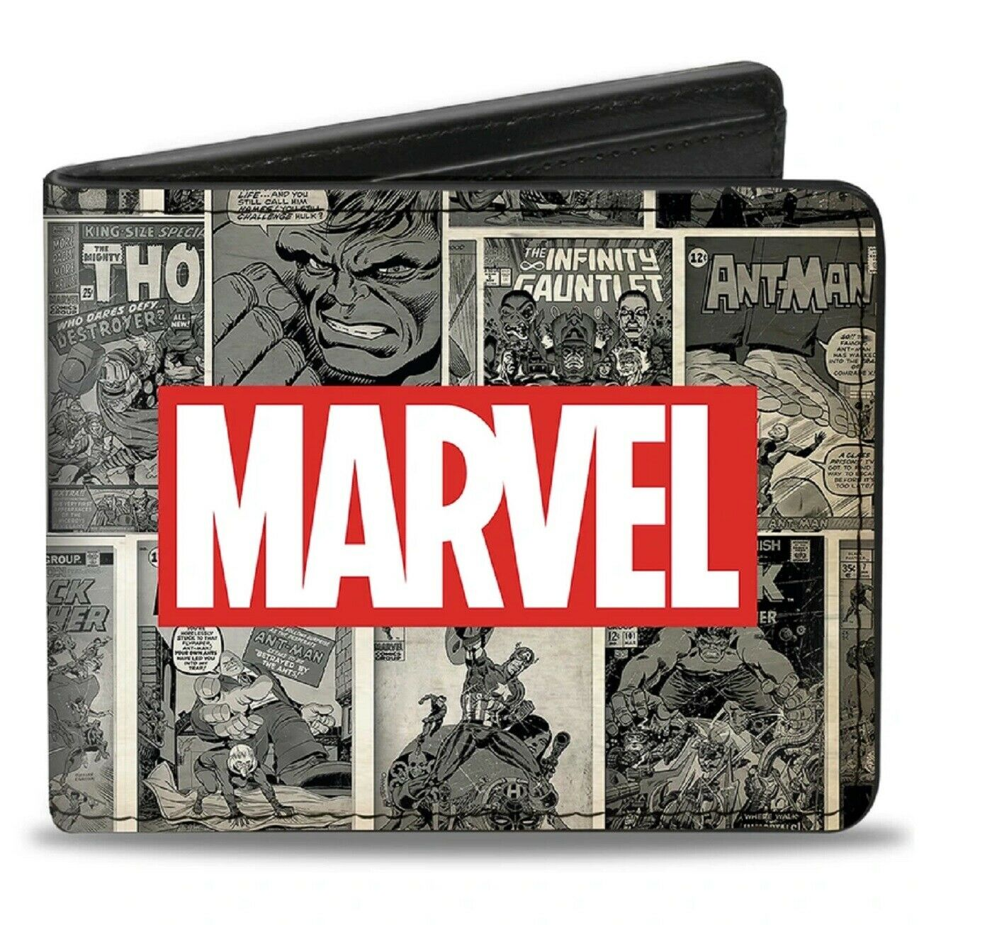 Marvel Logo With Retro Covers Bi-fold Wallet